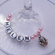 Frog Personalised Wine Glass Charm